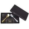 【名入れ可能】<SURUN>純銅製 アイスクリームスプーン2PCセット【ブライダルギフト、記念品、内祝い、名入れ可能、貼箱入】