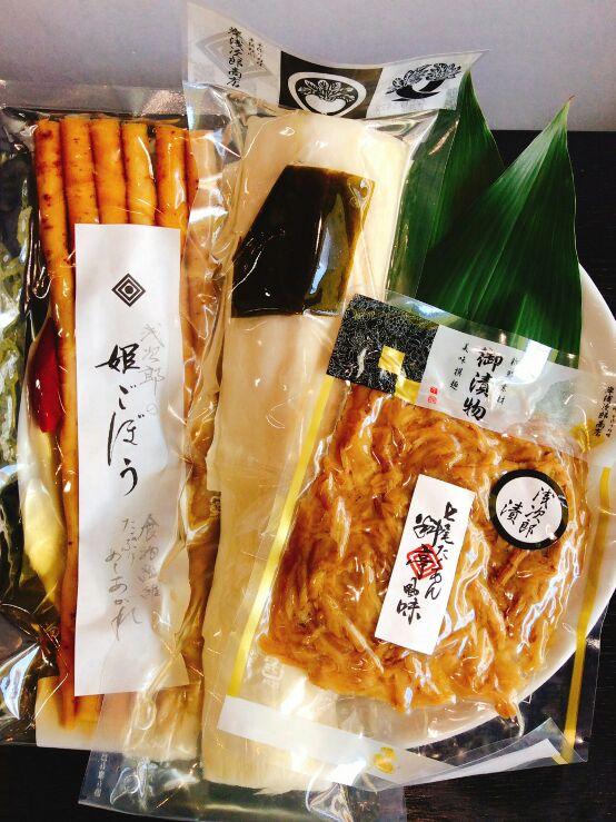 【オンラインショップ限定】七尾たくあん浅次郎漬と人気のお漬物お詰め合わせ3点セット HARU