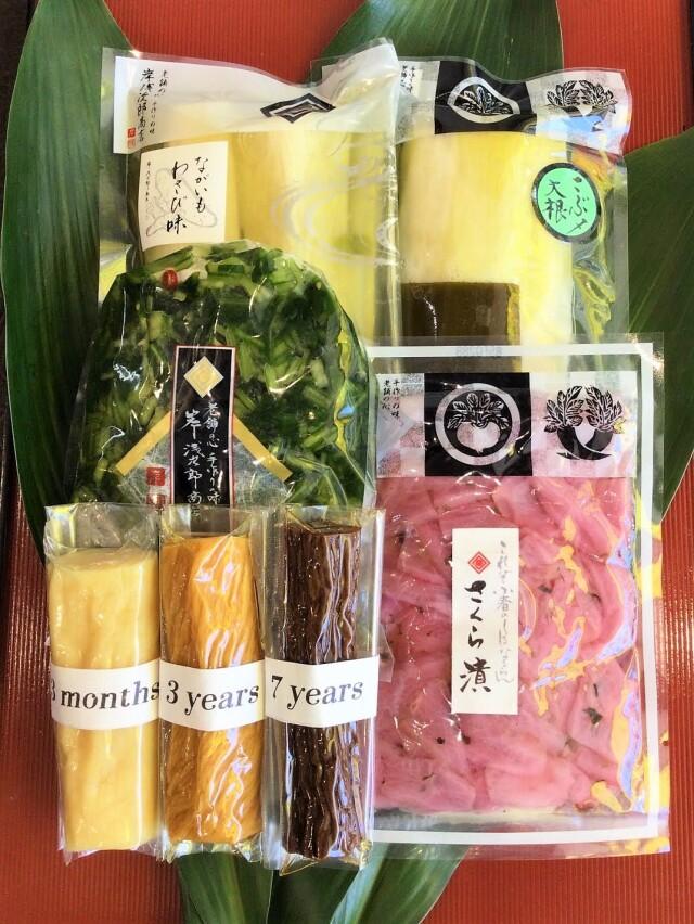 【オンラインショップ限定】七尾たくあん3色の食べ比べができる春限定セット