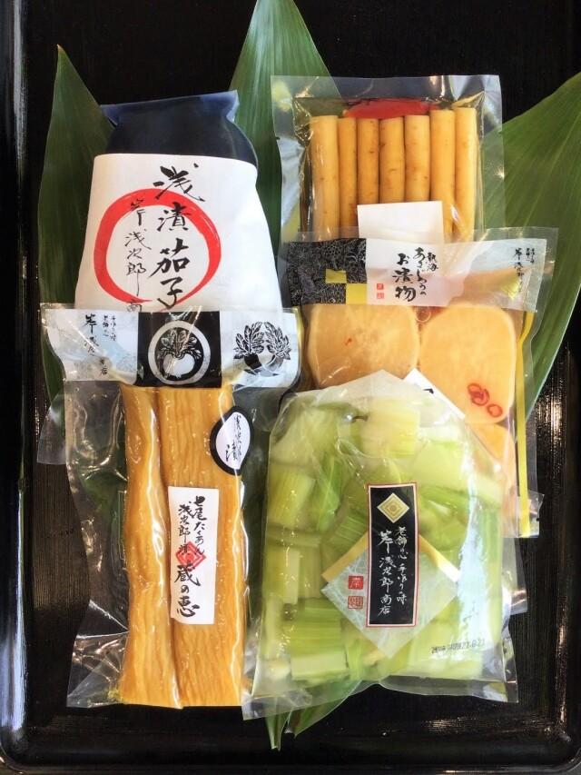 【オンラインショップ限定】七尾たくあん浅次郎漬ミニサイズと人気のお漬物セット A