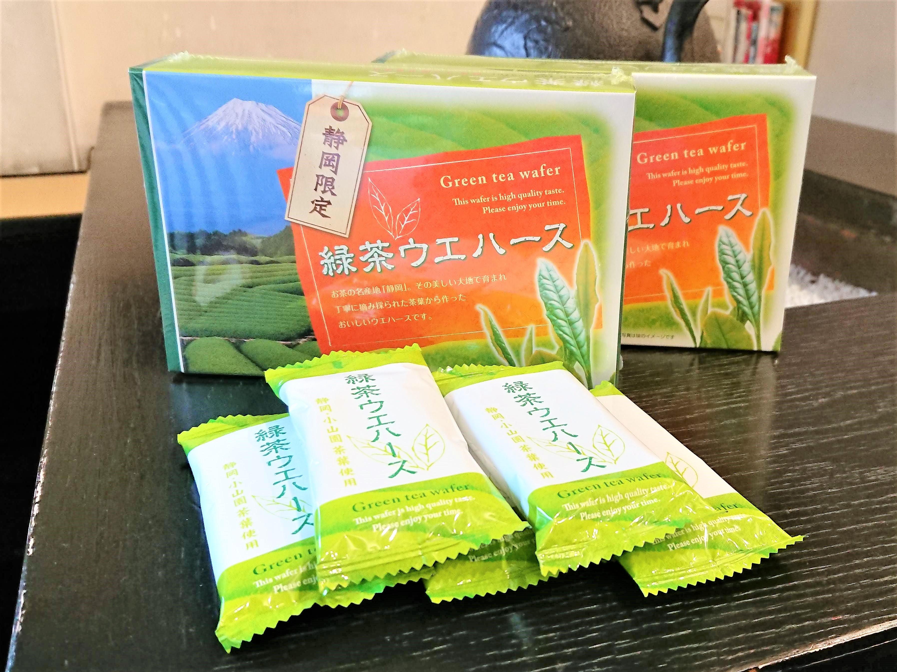 静岡産の緑茶が香る 緑茶ウエハース