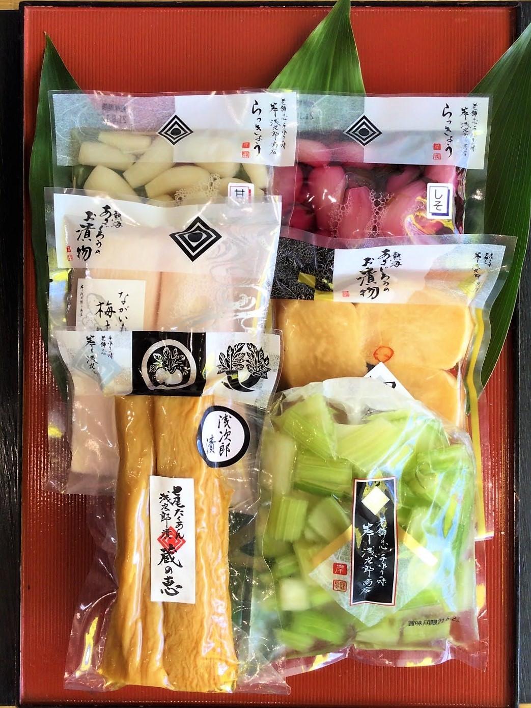 【オンラインショップ限定】七尾たくあん浅次郎漬ミニサイズと人気のお漬物セット B