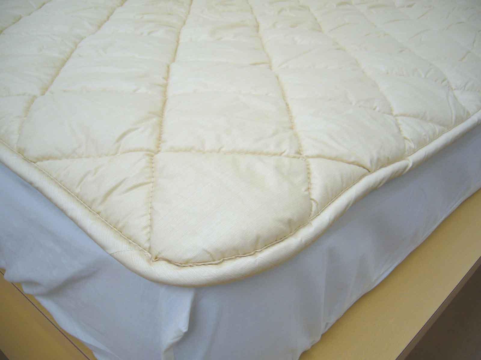 羊毛ベッドパッド厚手二層式