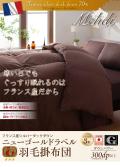 【ネット限定・送料無料】ニューゴールドラベル付き・安心の日本製フランス産ダックダウン70%羽毛掛布団:クイーン直送