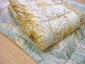 羊毛肌布団(裏地がウールニット100%・中わたウール50%・綿50%の天然素材で吸湿性抜群)【全国送料無料・限定・在庫処分】