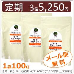 菊芋万能パウダー 100g×3袋 【お得な定期コース】【メール便対応商品】
