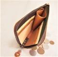 エルファ      うす型L字長財布   (キャメルK)