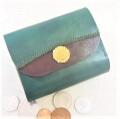 2つ折り財布(グリーンK)
