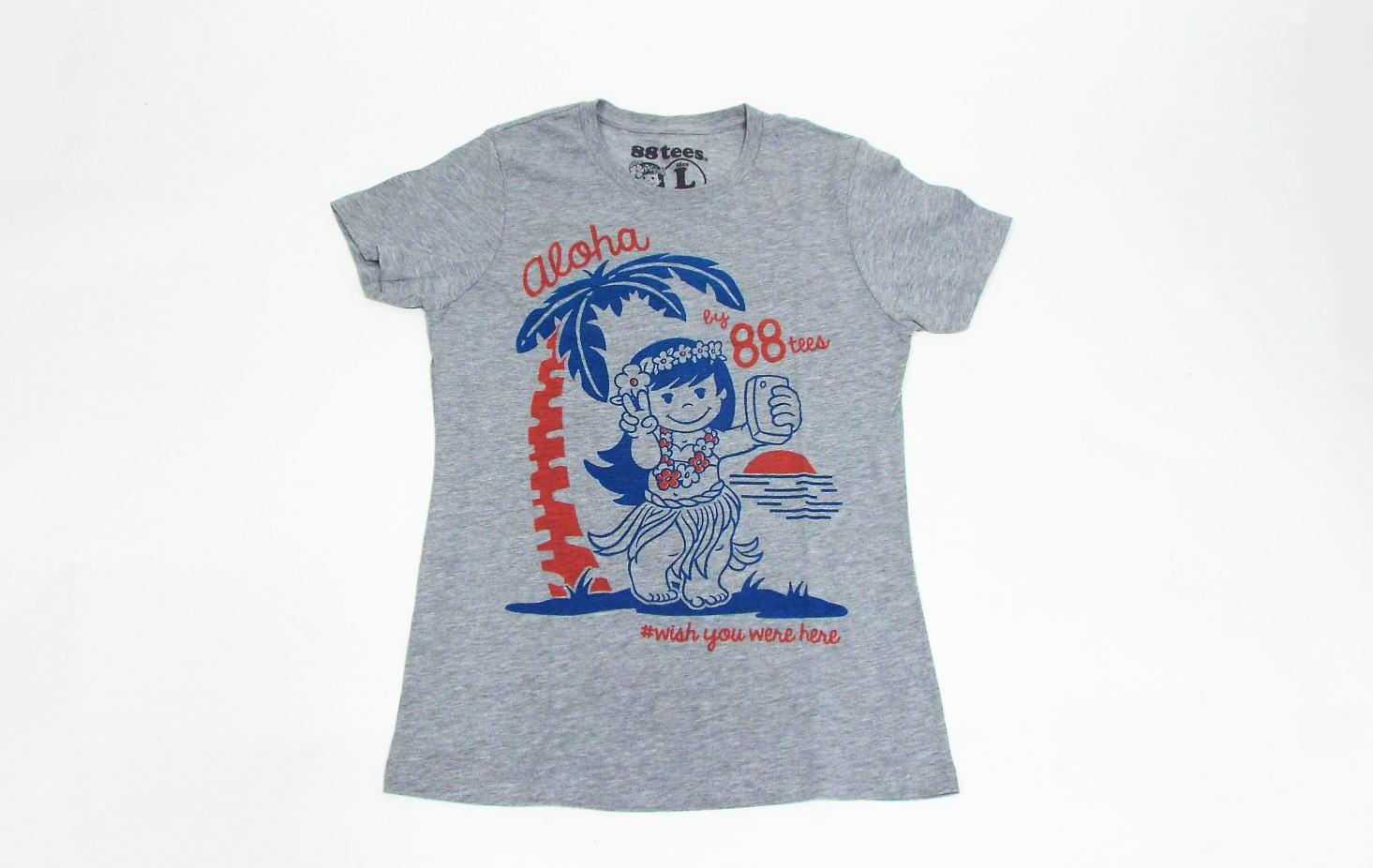 88TeesオリジナルTシャツ ヤヤ レディース Lサイズ グレー