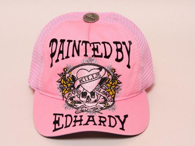 エドハーディー ラブキル キャップ ピンク フリーサイズ