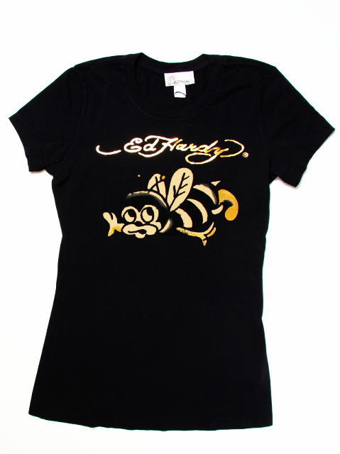 エドハーディー ハワイ限定レディースTシャツ バンブルビー 黒 Lサイズ