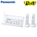 パナソニック デジタルコードレス普通紙ファックス おたっくす 子機2台付き KX-PD205DW-W ホワイト