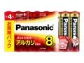 パナソニック アルカリ乾電池単4形8本パック LR03XJ/8SW ケース30パック入り