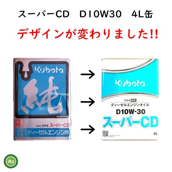 スーパーCD 4L缶 純オイル デザイン変更
