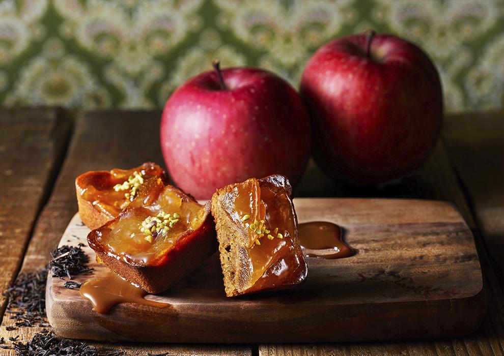 絶妙な焼き加減でキャラメリゼしたリンゴ