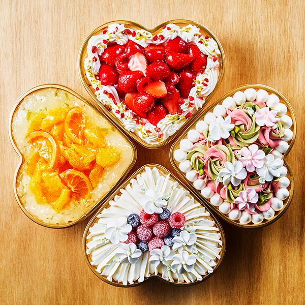【誕生日・記念日】四つ葉のクローバーケーキ -4種セット-