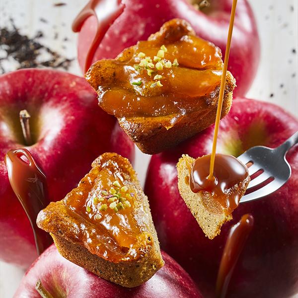 キャラメルりんごのティーケーキ