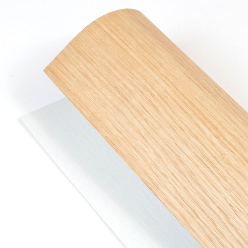 森の紙 曲がる 極薄 壁紙 天然木のシート オ-ク 粘着シールタイプ A4サイズ DIY 化粧材 切文字 メール便