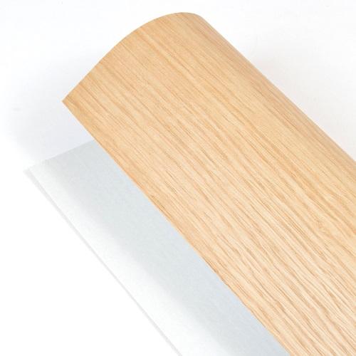 森の紙 曲がる 極薄 壁紙 天然木のシート オ-ク 粘着シールタイプ A3サイズ DIY 化粧材 切文字