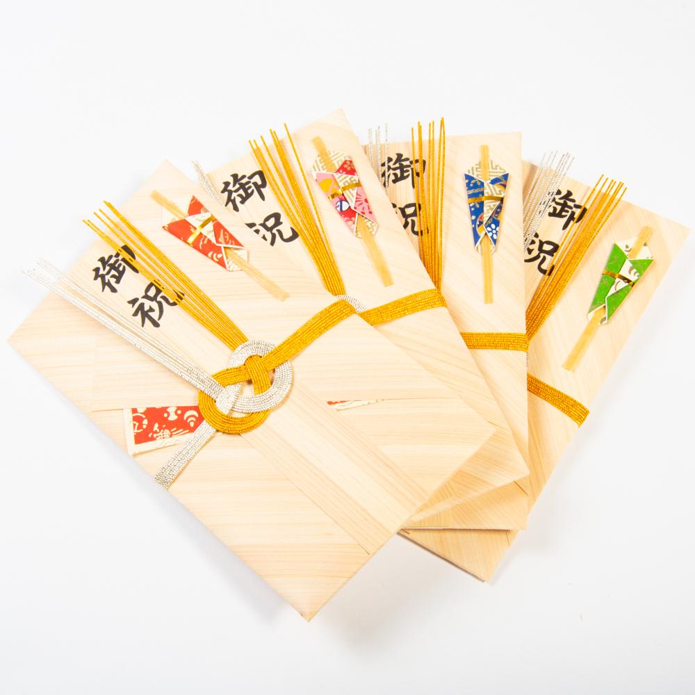 mori no kami 森の紙 天然木 おしゃれ 祝儀袋 熨斗(のし)袋 ひのき 和紙 メール便