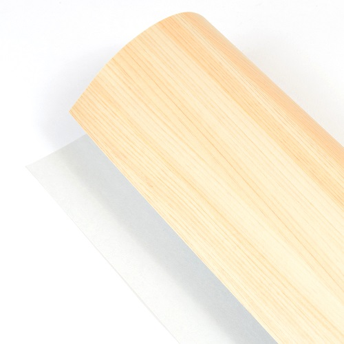 mori no kami 森の紙 曲がる 極薄 壁紙 天然木のシート ひのき 柾目 粘着シールタイプ 600×1800mm DIY 化粧材 切文字