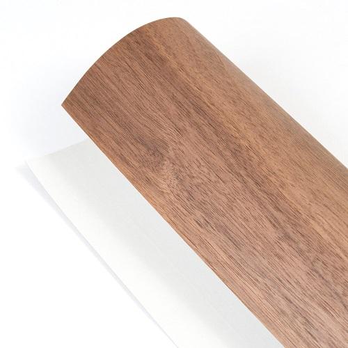 森の紙 曲がる 極薄 壁紙 天然木のシート ウォルナット 粘着シールタイプ A3サイズ DIY 化粧材 切文字