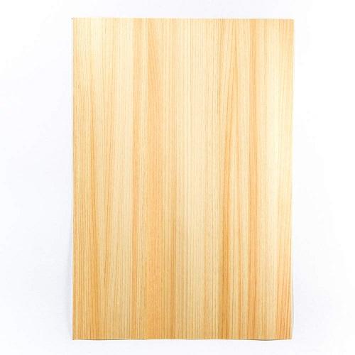 森の紙 極薄 天然木の紙 ひのき 葉書サイズ 100枚入り インクジェットプリンター印刷 メール便