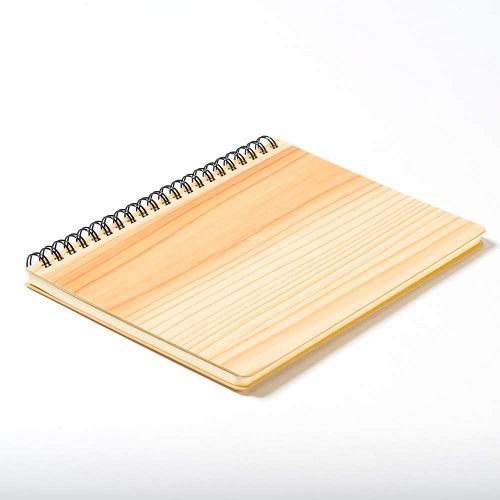 mori no kami 森の紙 極薄 天然木 リングノート A5 杉 ウォールナット メール便