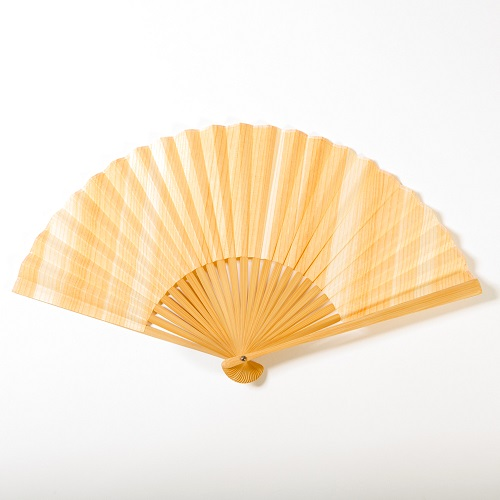 mori no kami 森の紙 天然木 扇子 杉 柾目 ひのき 柾目 ウォールナット 7.5寸 22.5cm メール便