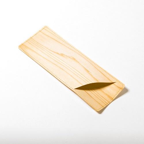 mori no kami 森の紙 極薄 天然木 おしゃれ ペンケース 杉 メール便