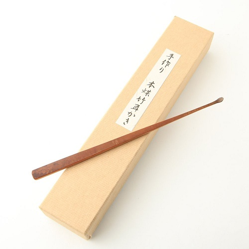 時代屋 阿波の名工 最高級 耳かき 本煤竹 匠の技 藤澤英文(号 竹海)謹製 刻印入り 18cm メール便