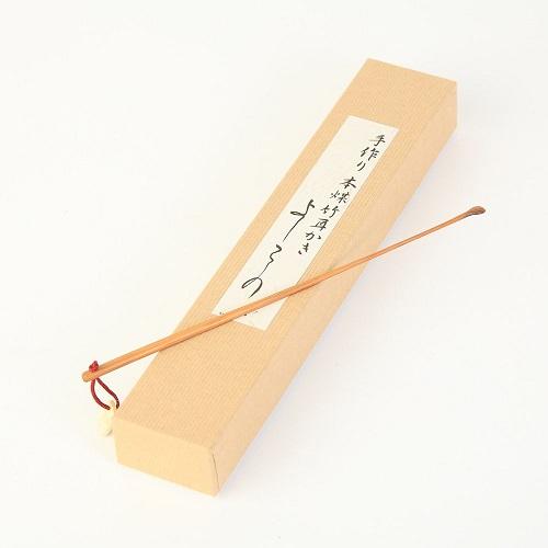 時代屋 阿波の名工 最高級 耳かき よしこの 極細 本煤竹 匠の技 藤澤英文(号 竹海)謹製 刻印入り 18cm メール便