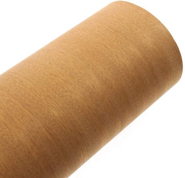 森の紙 曲がる 極薄 壁紙 天然木のシート サペリ 粘着シールタイプ 600×1800mm DIY 化粧材 切文字