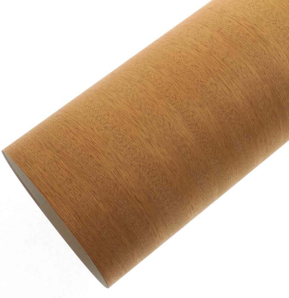 森の紙 曲がる 極薄 壁紙 天然木のシート サペリ 粘着シールタイプ A3サイズ DIY 化粧材 切文字