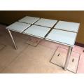 ガラス天板 ミーティングテーブル MT-012