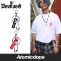 Deviluse Key Chain キーチェーン 黒 赤 Black Red デビルユース