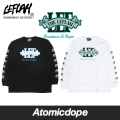【送料無料】LEFLAH EMBREM logo ロンT 長袖 黒 白 Long Sleeve Tee Black White レフラー