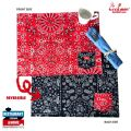 COOKMAN テーブルマット ペイズリー レッド&ブラック Table Pocket Mat Reversible Paisley Red & Black クックマン