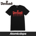 【Deviluse】Logo Blood T-shirst Black Red Tシャツ 半袖 黒 赤 デビルユース