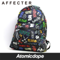 AFFECTER BANDIXXX バックパック 鞄 総柄 黒 PACKABLE RAIN BACKPACK Black アフェクター