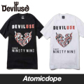 【Deviluse】Geomentry Heart Tシャツ 半袖 黒 白 T-shirts Black White デビルユース