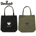 Deviluse Heartaches 2ポケット トート バッグ ブラック オリーブ 鞄 黒 緑 2Pocket Tote Bag Black Olive デビルユース