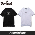 【Deviluse】Ringer Geometry Heart Tシャツ 半袖 黒 白 T-shirts Black White デビルユース