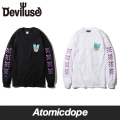 Deviluse I SCREAM ロンT 長袖 黒 白 L/S T-shirts Black White デビルユース