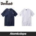 Deviluse D Pocket ポケット Tシャツ 白 紺 T-shirts White Navy デビルユース