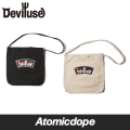 Deviluse Logo&Cherry トートバッグ カバン 鞄 黒 白 Totebag Black Natural デビルユース