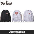 Deviluse miss you ロンT 長袖 黒 灰 L/S T-shirts Black Grey デビルユース