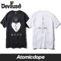 【Deviluse】Under The God Tシャツ 半袖 黒 白T-shirts Black White デビルユース