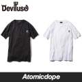 【Deviluse】Devilheart Long Length T-shirt Tシャツ 半袖 黒 白 T-shirts Black White デビルユース