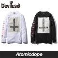 【Deviluse】God's Busy ロンT 長袖 黒 白 L/S T-shirts Black White デビルユース